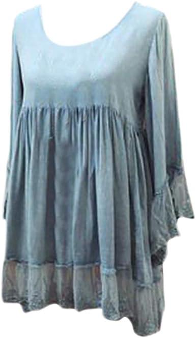 WARMWORD Mujer Tops Blusas para Damas Otoño Ropa de Señoras Suelta ...