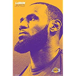 Trends International Los Angeles Lakers-Lebron James Wall Poster, Multi