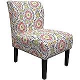 Best Master Furniture Middleton Floral Slipper Chair, Medium