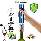 Electric Wine Opener Cordless Battery Powered Foil Cutter Vacuum Stopper Pourer Premium Accessories(BLUE)