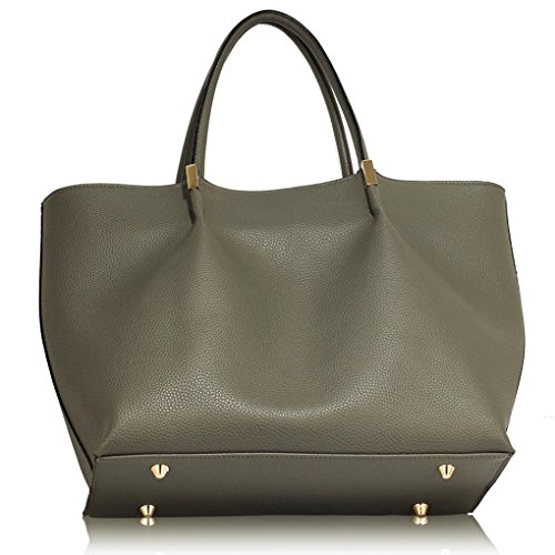 454 Bag Tote Shoulder Women's Size Handbags Nice Leahward Grey With Quality Large Tassel Ladies Bags Designer Charm US7wxpq
