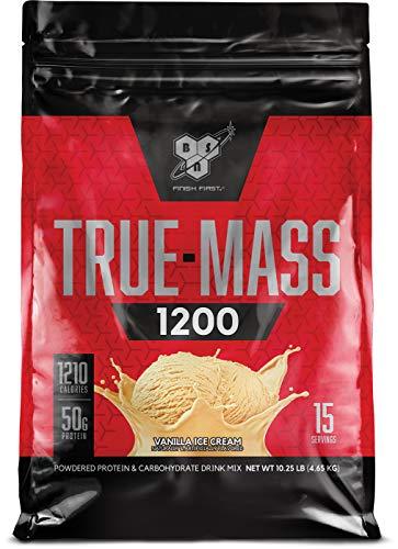 - BSN TRUE-MASS Weight Gainer, Muscle Mass Gainer Protein Powder, Vanilla Ice Cream, 10.25 Pound