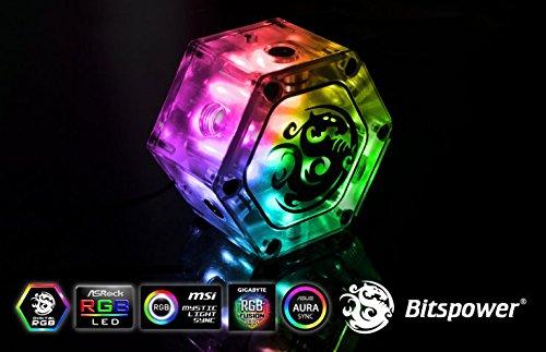 Bitspower Water Tank Hexagon 40 with Bracket and Digital RGB