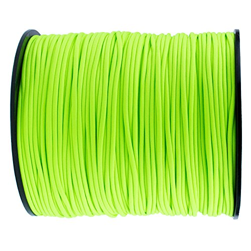 Green Brown Orange - Paracord Planet Nylon 7 Type III Strand Inner Core Paracord - 100 Feet, Neon Green