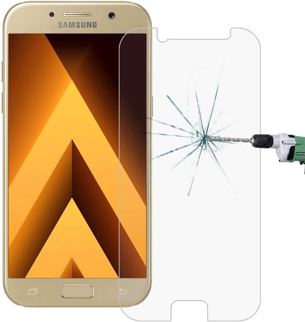 LIDGRHJTHTGRSS Screen Protectors 100 PCS for Galaxy A3 2017 // A320 0.26mm 9H Surface Hardness 2.5D Explosion-Proof Tempered Glass Non-Full Screen Film Mobile Phone Accessories