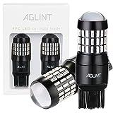 AGLINT 2PCS Auto LED Brake Light with Projector 12V 24V Super Brightness 520 Lumen 7443 7444 T20 W21W 4014 Car LED Brake Backup Tail Light Bulbs Red