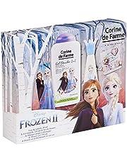 Corine de Farme | Reine des Neiges Coffret Cadeau | Parfum Enfant | Gel Douche Enfant | Barrette Fille | Bracelet Enfant | Fabrication Française