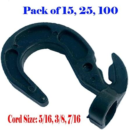 16 Shock Cord Hooks Adjustable for Rubber Rope Bungee Bungie Tarp Boat Cover