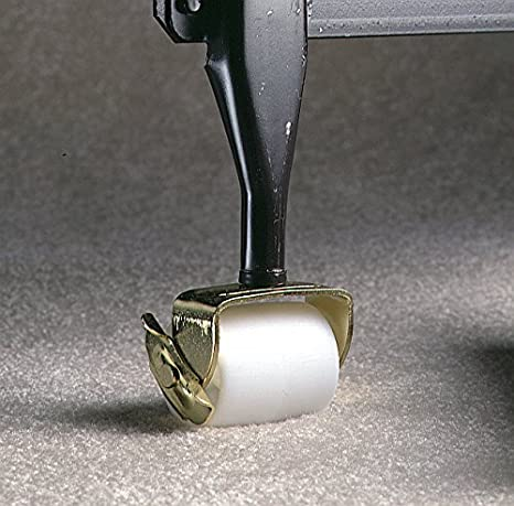 2-Pack 2-1//8-Inch White Bed Rollers with Side Brake New