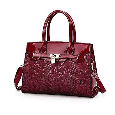 Amazon.com: Fashion PU Leather Women Tote Bag New Ladies ...