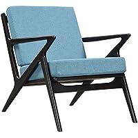 NyeKoncept 224479-C Dodger Blue Zain Chair, Black