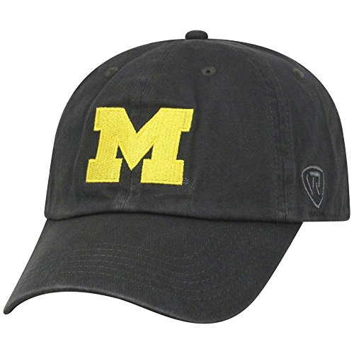 - Top of the World NCAA Michigan Wolverines Men's Adjustable Hat Relaxed Fit Charcoal Icon, Charcoal