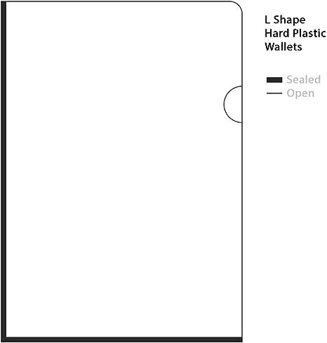 Cartellina portadocumenti in plastica trasparente resistente formato A4 25 x U Shape