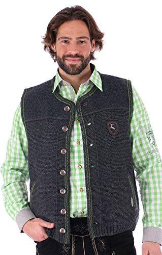 German knitted waistcoat Ramsau SW darkgrey-grass by Spieth & Wensky (Image #4)