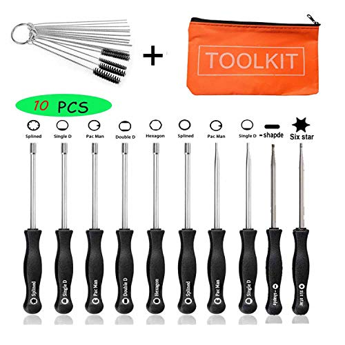 (FYIYI New (10pcs) Carburetor Adjustment Tool Kit+ Cleaning Tool for Common 2 Cycle Small Engine Echo STIHL Poulan Husqvarna MTD Ryobi Homelite Trimmer Weed Eater Chainsaw)