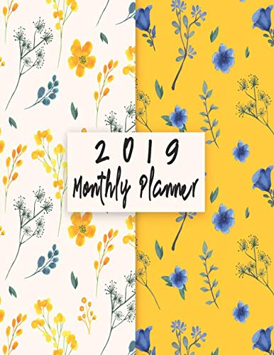 2019 Monthly Planner: Schedule Organizer Beautiful Bicycle Panda watercolor background  Cover Monthly and Weekly Calendar To do List Top goal and - Holiday Bicycle Ornament