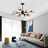 8 Light Chandelier Pendant Lighting Black with