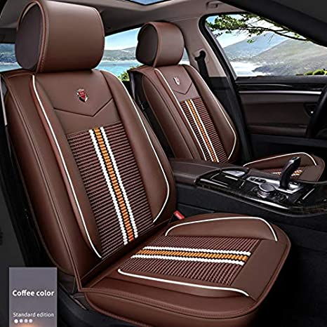 Sensational Amazon Com Maite Pu Leather Car Seat Covers Cushions 5 Gmtry Best Dining Table And Chair Ideas Images Gmtryco