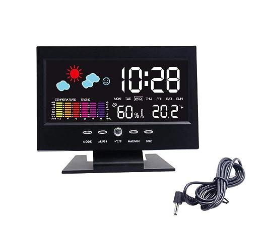 Electrónica Reloj De Mesa Digital LCD SNOOZE Reloj Despertador ...