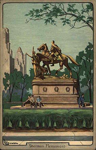 - Sherman Monument New York, New York Original Vintage Postcard