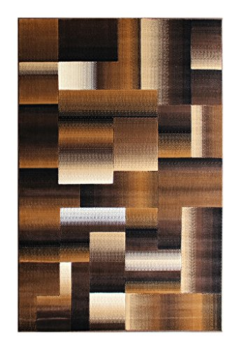 (Masada Rugs, Modern Contemporary Area Rug, Brown Black Beige (5 Feet X 7 Feet))