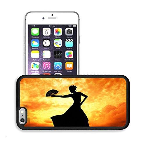 [Luxlady Premium Apple iPhone 6 Plus iPhone 6S Plus Aluminum Backplate Bumper Snap Case IMAGE ID 21164069 Woman dancing] (Female Flamenco Dancer Costumes)