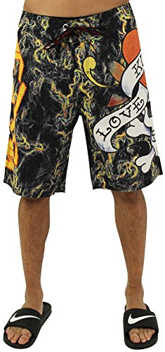 Ed Hardy Men's Boardshorts Swim Trunks Assorted Styles Black Size 33