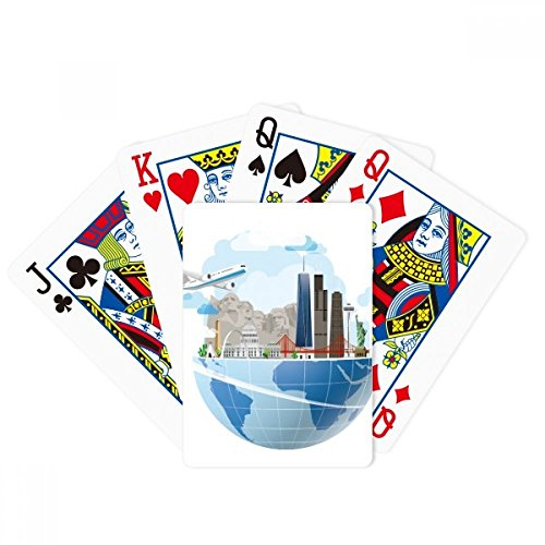 Travel Journey America Mount Plane Poker Playing Cards Tabletop Game Gift by beatChong