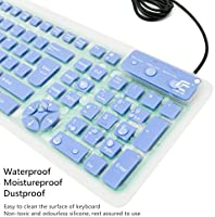 Amazon com: Silicone Keyboard, IYUT Foldable Portable Wired