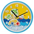 Silent Digital Decorative Wall Clocks for Kids- 12 inches - Contemporary Battery Operated Children Clock- Best Bedroom Décor Ideas/ Baby Shower Gifts for Boys/ Girls/ Nursery