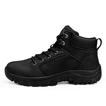 a07b8288c9d Hiking Boots for Men Mitiy Waterproof Lace Up Ankle Booties Non Slip ...