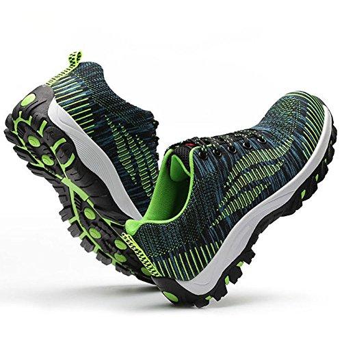 happygo! Damen Herren Sicherheitsschuhe Arbeitsschuhe Stahlkappe Sportlich Atmungsaktiv Leicht Rutschfest Schuhe Unisex Grün