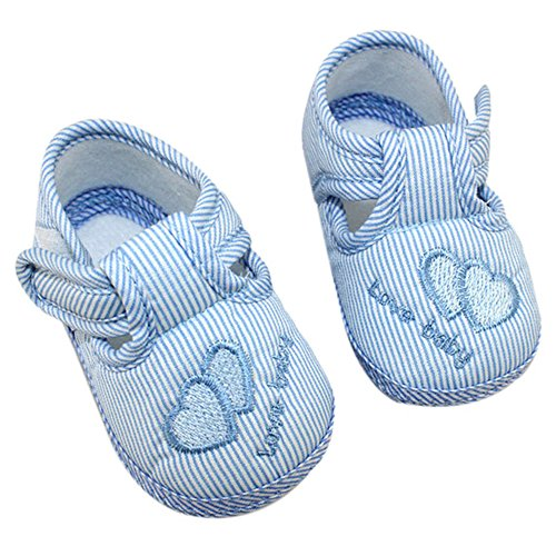 Sanwood , Baby Mädchen Krabbelschuhe & Puschen blau Size 13 blau