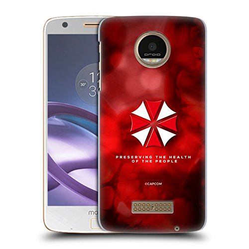 Force Umbrella - Official Resident Evil Umbrella Logo Hard Back Case for Moto Z Force/Z Force Droid
