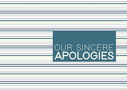 Apology Greeting Cards - AP1801. Business Greeting