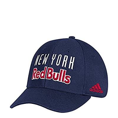 adidas MLS New York Red Bulls Men's Wordmark Mesh Structured Adjustable Hat, One Size, Navy from Adidas Licensed Division - Headwear