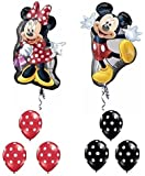 Mickey and Minnie Mouse Full Body Supershape Balloon Set by Party Supplies