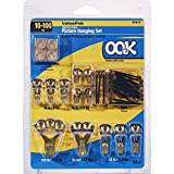 OOK 50918 Valu-Pak Assorted Professional Picture Hanging Kit, hangs up to 17 pictures, 10-100 lbs,1 pack