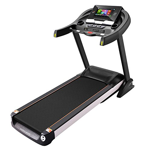 PTATAO Foldable Electric Treadmill Heavy Duty Running Treadmill Motorized Home Machine with Rolling Wheels