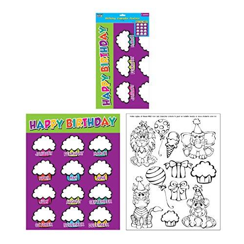 Birthday Calendar Posters 2 ct Flomo
