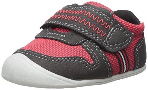 Red Bone Step - Carter's Every Step Boys' Stage 1 Crawl, Jamison-CB Sneaker, Red/Black, 3.0 M US (6-9 Months)