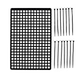 FCGV Baggage Window Luggage Rubber Net Models for RC Crawler Car Axial Decoration -black
