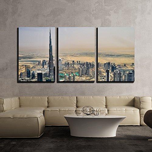 Skyscraper in The Desert City x3 Panels