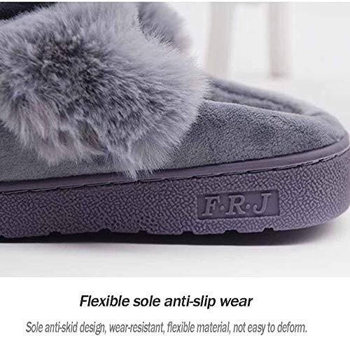 En Green Et Fond Épais Un De Motif Chaussures Pantoufles Pour Hiver Mignonnes À Avec Coton Automne Lapin Femmes qZCTHd