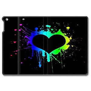 Black Heart Smart Case Cover with Back Case for Apple iPad Air