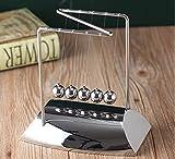 URToys Z Shaped Newtons Cradle Steel Balance Pendulum Ball Physics Science Fun Desk Toy Educational Teaching Science Desk Toys Christmas Present for Children