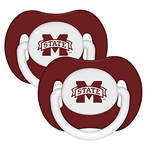 Mississippi State Bulldogs Infant Pacifiers Set (2) - NCAA Baby Fantic Pacifier Gift Set