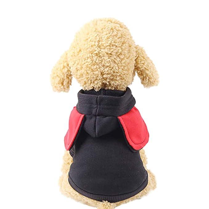 Perros Accesorios ❤ BaZhaHei Sudaderas con Capucha de Poliéster con Ropa de Perro de Bolsillo