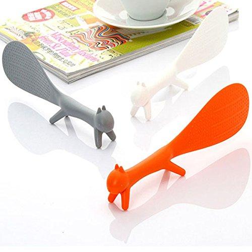 """Plastic Squirrel Free Standing Porridge Rice Scoop Nonstick Table Spoon"" shopping"
