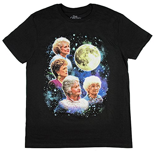 Bioworld The Golden Girls Women's Four Golden Girls Moon T-Shirt (Medium) (T-shirt Moon Wolf)